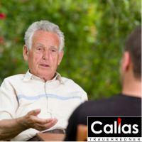 Callas Trauerrede und persönliches Vorgespräch