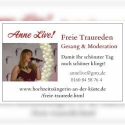 Hochzeitsrednerin & Sängerin Anne Live!